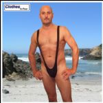 Black Mankini Thong
